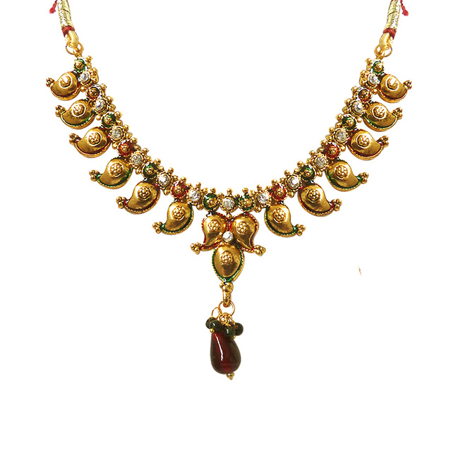 Traditional Antique -Necklace & Earrings Set