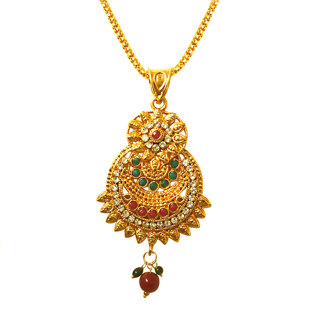 Sophisticated Jewel -Pendants Necklace & Earrings Set