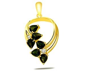 0.04 cts Diamond & Sapphire Pendants