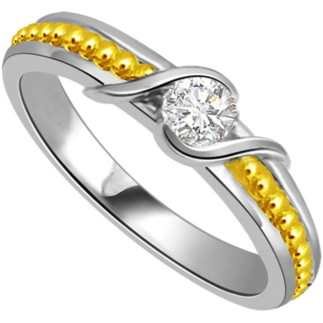0 05 Cts Solitaire Diamond 18K Engagement Rings Surat Diamond Jewelry