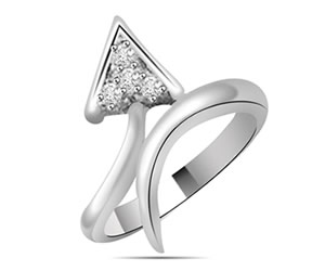 0.05 cts White Gold Diamond rings -Designer