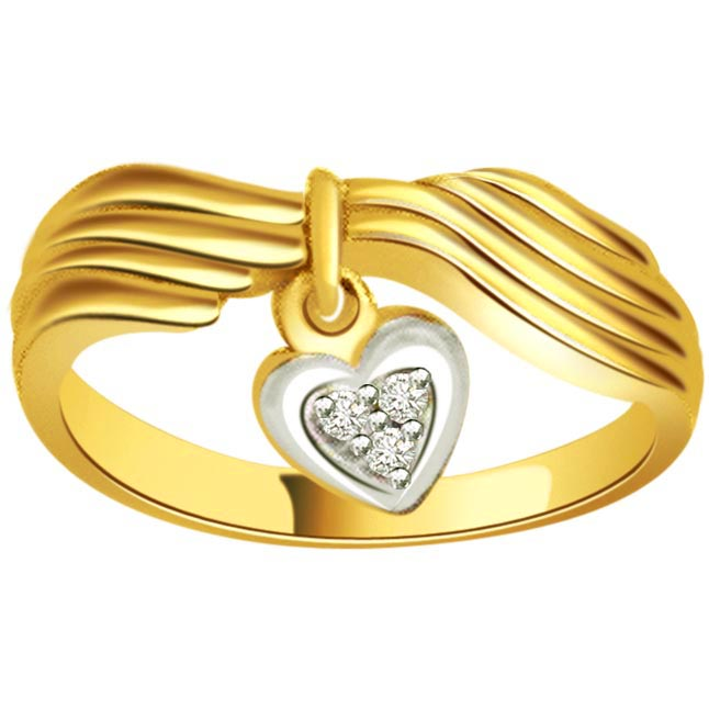 0.06ct Diamond Heart Shape 18kt Gold rings