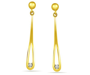 0.08 cts Designer Hanging Diamond Earrings