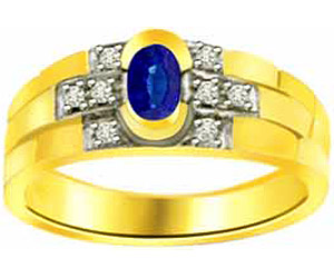0.08ct Diamond & Oval Sapphire rings