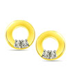 0.08cts Diamond Earrings -Geometrical