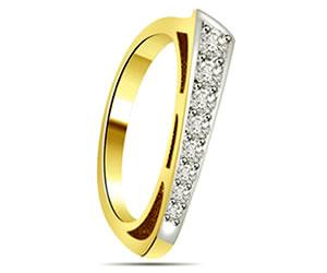 0.10 cts White Yellow Gold Diamond rings