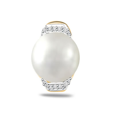 0.10ct Diamond & Real Pearl Pendants -Designer Pendants
