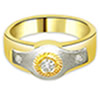 0.10ct Fine Two Tone Diamond rings in 18K Gold