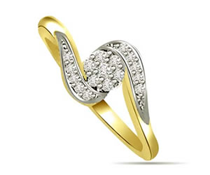 0.11 cts Flower Shaped Diamond rings