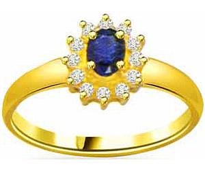 0.12 cts Flower Pattern Diamond & Sapphire rings