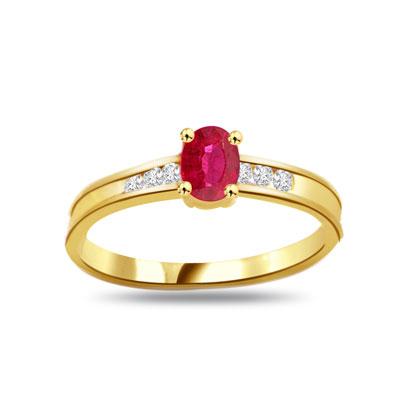 0.12ct Diamond & Ruby rings