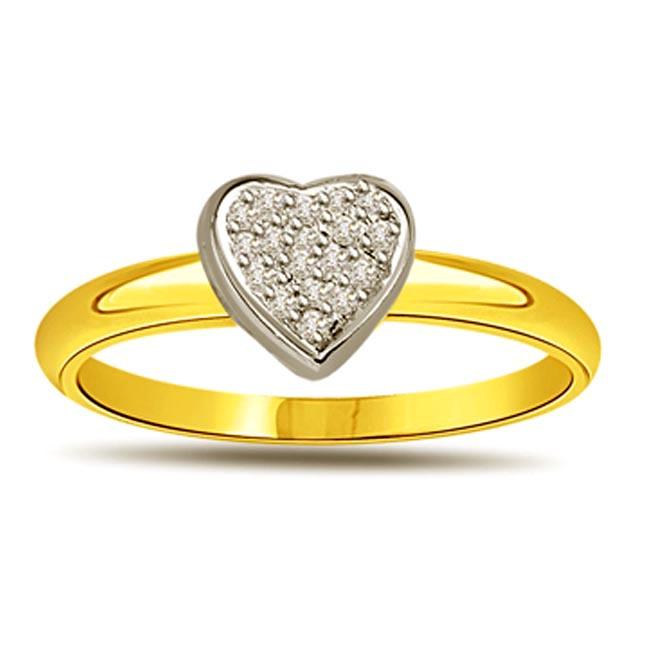 0.14 cts Diamond Heart Shape rings