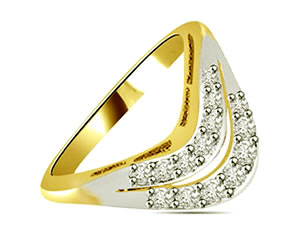 0.14 cts White Yellow Gold Diamond rings