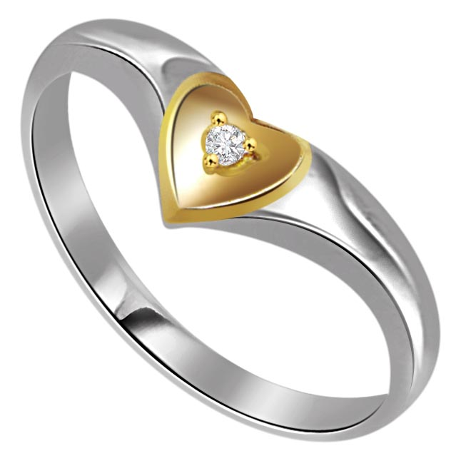 0.15 cts Diamond Heart Shape rings