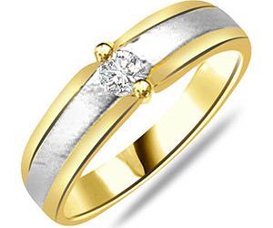 0.20 cts Classy Two Tone Solitaire Diamond rings