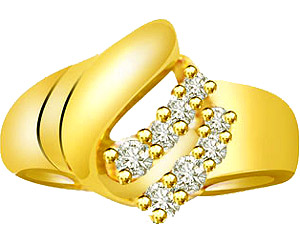 0.20 cts Designer Diamond 18K rings