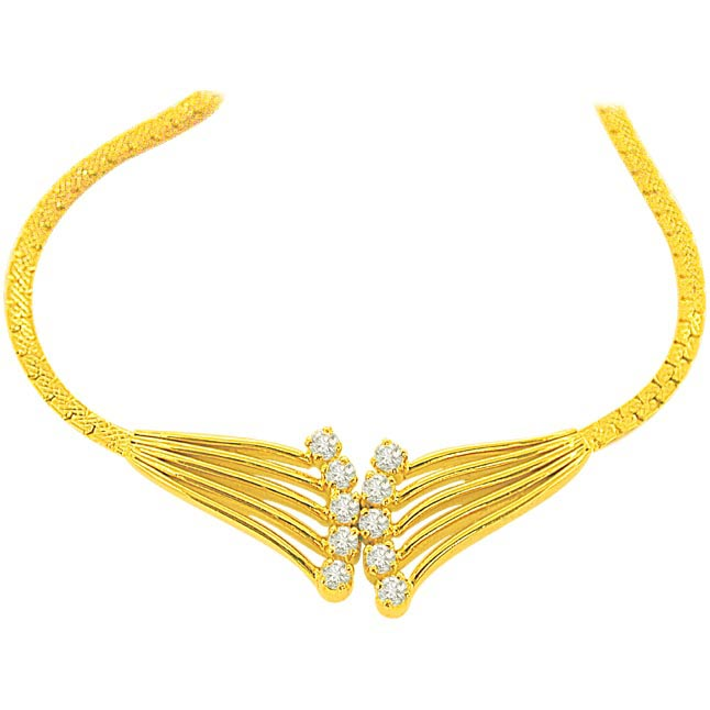 0.20 cts Diamond Necklace -Solitaire Mangalsutra