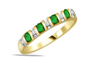0.20ct Diamond & Emerald rings -Diamond & Emerald