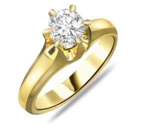 0.20ct Diamond Solitaire Gold rings SDR1201 -18k Engagement rings