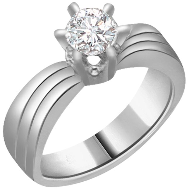 0.20ct Diamond Solitaire 14kt rings SDR1225 -White Gold Big Sol