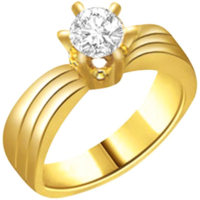 0.30cts H-I / I1 Big Solitaire Diamond  Ring in 18K Gold