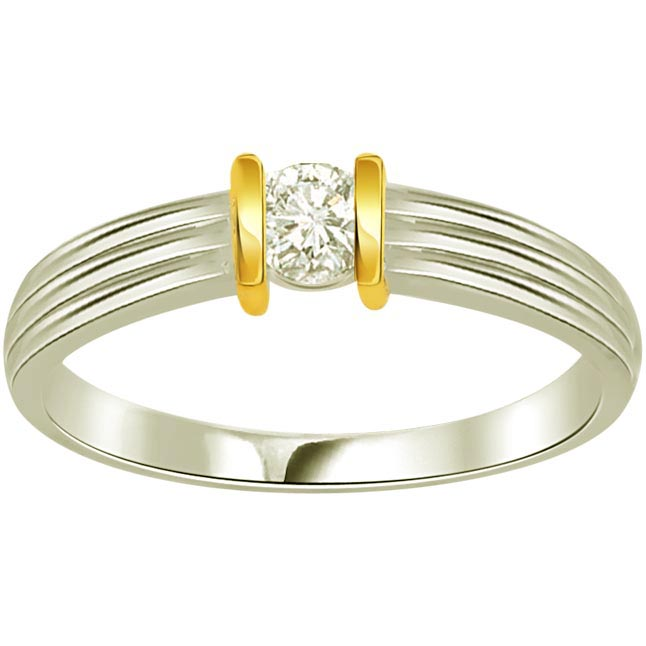 0.20ct Diamond Two Tone Solitaire rings SDR414