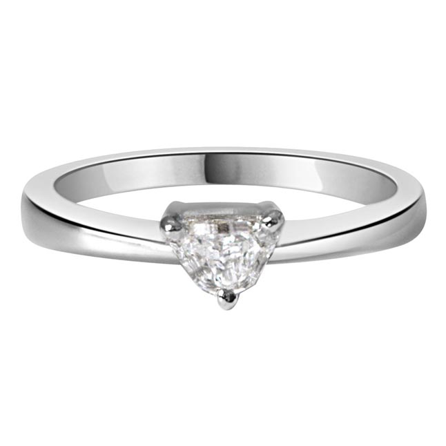 0.20ct Pantagone I/I1 Solitaire Diamond Engagement rings in 14kt White Gold