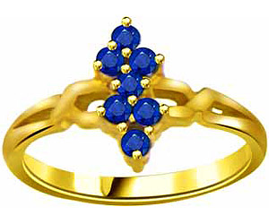 0.21 cts Round Sapphire 18K Gold rings