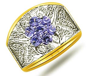0.21 cts Sapphire Two Tone 18K Wide B