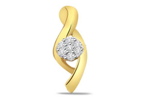 0.21ct VS / I, J Diamond Pendants -Designer Pendants