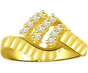 0.22 cts Classy Yellow Gold Diamond rings