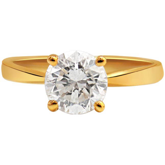0.22ct Solitaire Diamond 18kt Gold rings -18k Engagement rings