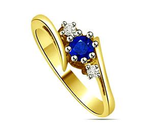 0.23 cts Diamond & Sapphire rings