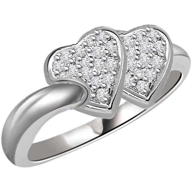 0.24 cts Diamond Heart Shape rings