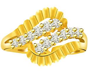 0.24cts Designer Diamond 18K rings