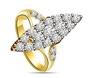 0.25 cts Diamond White Yellow Gold rings -White Yellow Gold rings
