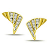 0.27ct Fan Diamond Earrings -Geometrical