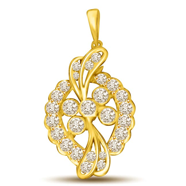 0.27CT Gold & Diamond Pendants for My Lady Love -Designer Pendants