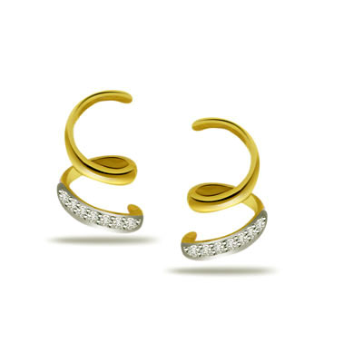 0.28 ct Lustrous Diamond Gold Earrings -Designer Earrings