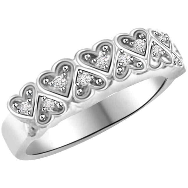 0.28 cts Diamond Heart Shape rings