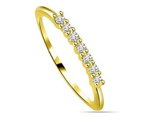 0.28 cts Diamond Yellow Gold Eternity rings
