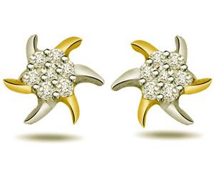 0.28ct Diamond Star Shape Earrings -Designer Earrings