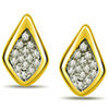 0.28ct Diamond Stud Earrings -Geometrical