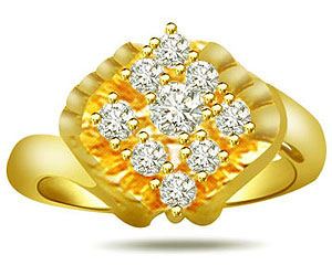 0.29 cts Designer Diamond rings In 18K Gold