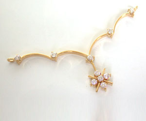0.30 cts Brilliant White Flower Shape Diamond Necklace Pendants DN33 Necklaces