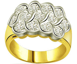 0.30 cts Designer Diamond rings In 18K Gold