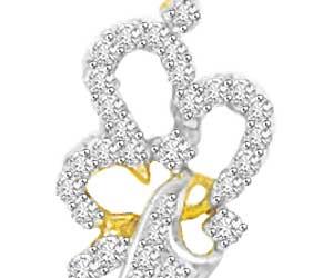 0.30 cts Designer Two Tone Gold & Diamond Pendants