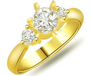 0.30 cts Diamond Solitaire 18K Engagement rings -18k Engagement rings