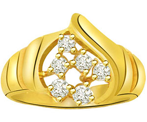 0.30 cts Diamond Yellow Gold 18K rings