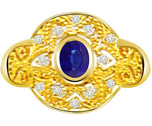 0.30 cts Diamond & Sapphire Gold rings